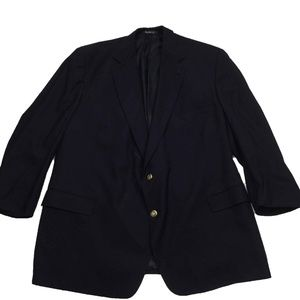 Burberrys Gold Button Blazer Sport Coat Jacket 52L